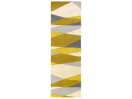 Surya Forum Rectangular Cream, Lime & Mustard Runner Rug