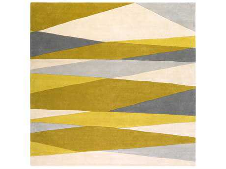 Surya Forum Square Cream, Lime & Mustard Area Rug