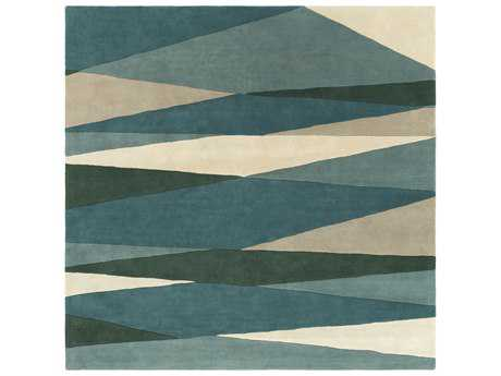 Surya Forum Square Sea Foam, Dark Green & Teal Area Rug
