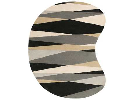 Surya Forum Kidney Black, Cream & Taupe Area Rug