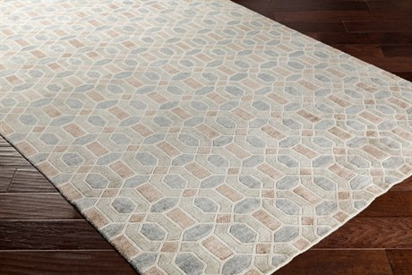 Surya Florentine Rectangular Khaki, Taupe & Medium Gray Area Rug