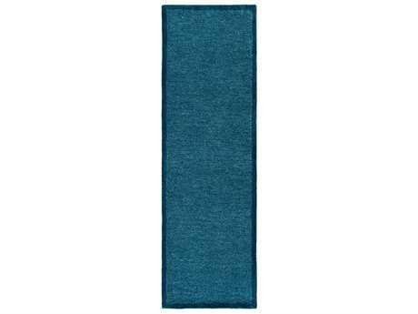 Surya Finley 2'6'' x 8' Rectangular Sky Blue & Aqua Runner Rug