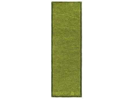 Surya Finley 2'6'' x 8' Rectangular Dark Green & Lime Runner Rug