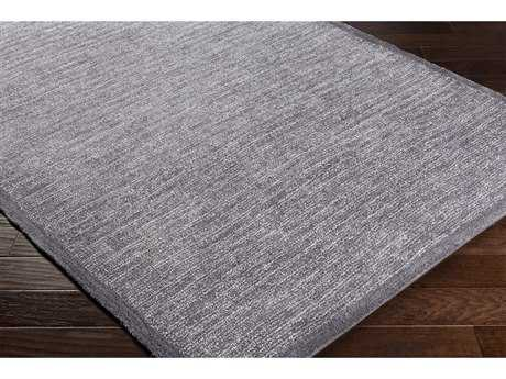 Surya Finley Rectangular Charcoal & White Area Rug
