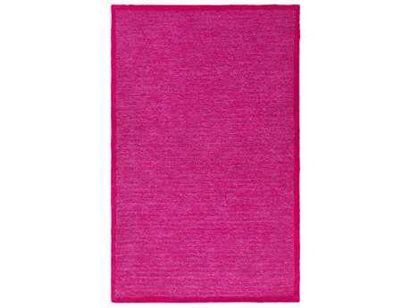 Surya Finley Rectangular Bright Pink & Dark Red Area Rug