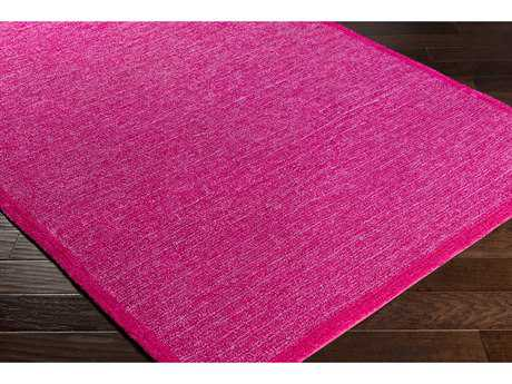 Surya Finley Rectangular Bright Pink & Dark Red Area Rug