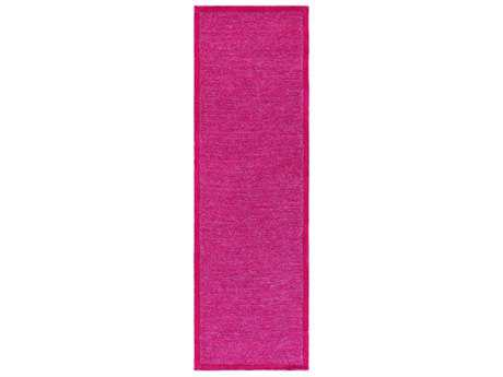 Surya Finley 2'6'' x 8' Rectangular Bright Pink & Dark Red Runner Rug