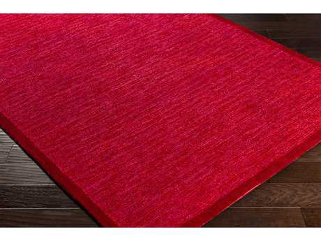 Surya Finley Rectangular Garnet, Bright Red & Bright Pink Area Rug