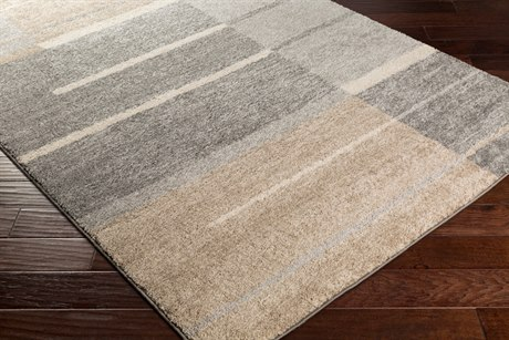 Surya Fowler Rectangular Medium Gray, Taupe & Light Gray Area Rug