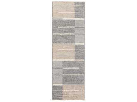 Surya Fowler 2'6'' x 8' Rectangular Medium Gray, Taupe & Light Gray Runner Rug