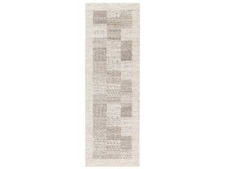 Surya Fowler 2'6'' x 8' Rectangular Light Gray, Ivory & Medium Gray Runner Rug