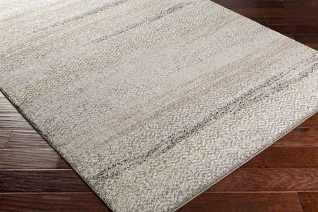Surya Fowler Rectangular Light Gray, Ivory & Medium Gray Area Rug