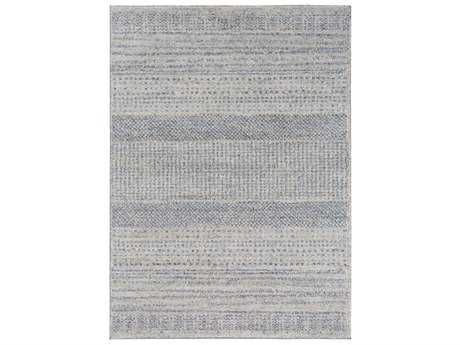 Surya Fowler Rectangular Medium Gray, Bright Blue & Black Area Rug