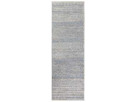Surya Fowler 2'6'' x 8' Rectangular Medium Gray, Bright Blue & Black Runner Rug