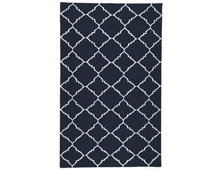 Surya Frontier Rectangular Black Area Rug