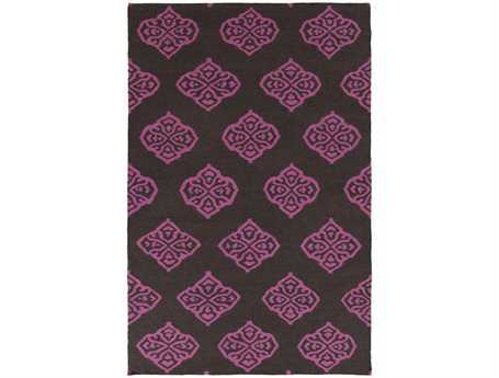 Surya Frontier Rectangular Purple Area Rug