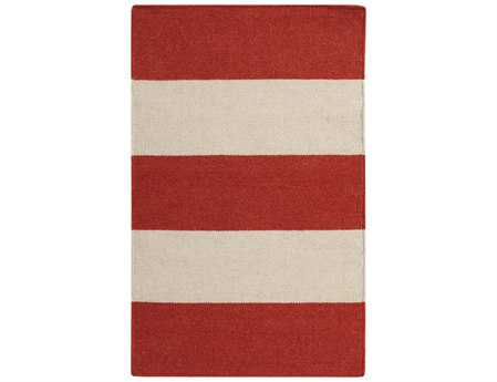 Surya Frontier Rectangular Red Area Rug