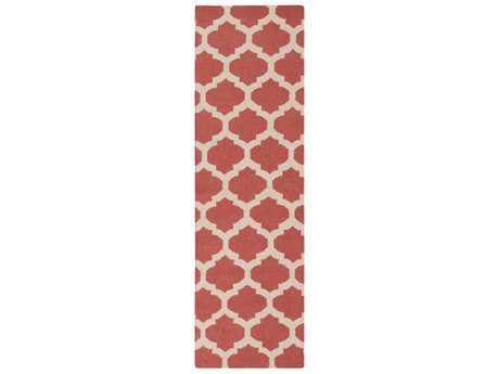 Surya Frontier 2'6'' x 8' Rectangular Rose & Beige Runner Rug