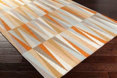 Surya Frontier Rectangular Burnt Orange, Ivory & Khaki Area Rug