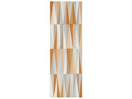 Surya Frontier 2'6'' x 8' Rectangular Burnt Orange, Ivory & Khaki Runner Rug