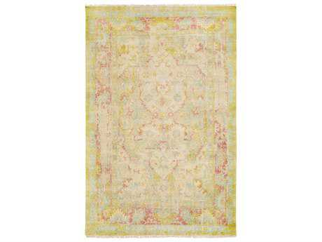 Surya Festival Rectangular Beige & Pink Yellow Area Rug