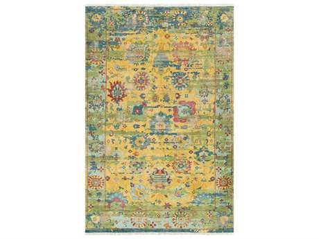 Surya Festival Rectangular Yellow & Green Blue Area Rug