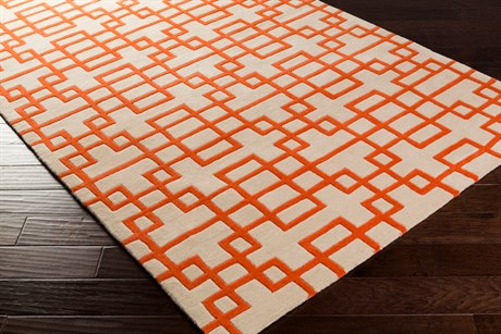 Surya Goa Rectangular Orange Area Rug