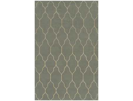 Surya Gates Rectangular Gray Area Rug