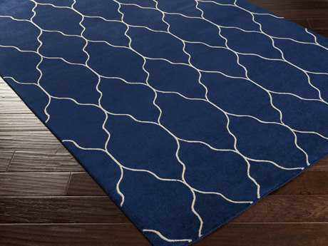 Surya Gates Rectangular Cobalt Area Rug