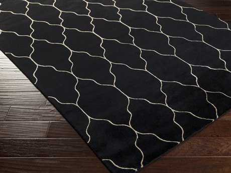 Surya Gates Rectangular Black Area Rug