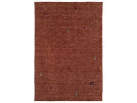Surya Gava Rectangular Rust, Dark Red & Dark Brown Area Rug