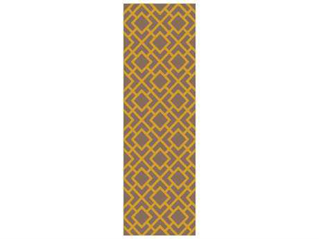 Surya Gable Rectangular Gold Runner Rug