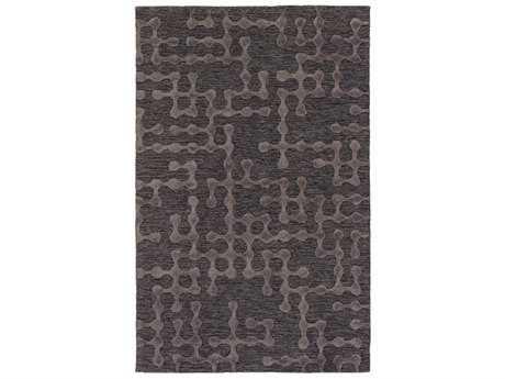 Surya Gable Rectangular Charcoal & Black Area Rug