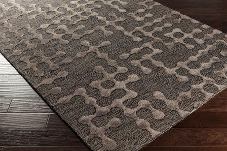 Surya Gable Rectangular Charcoal & Black Area Rug