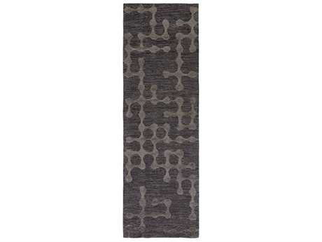 Surya Gable Rectangular Charcoal & Black Runner Rug