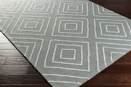 Surya Gable Rectangular Teal & Pale Blue Area Rug