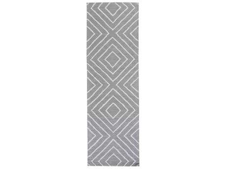 Surya Gable Rectangular Teal & Pale Blue Runner Rug