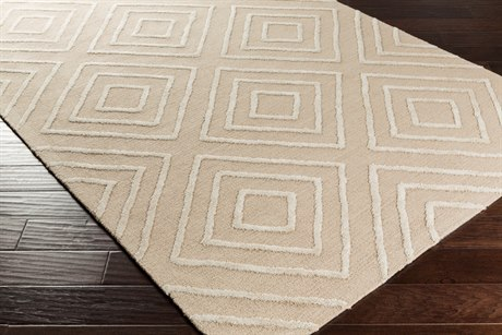 Surya Gable Rectangular Khaki & Ivory Area Rug