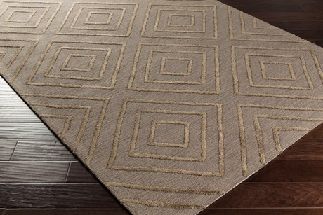 Surya Gable Rectangular Taupe & Black Area Rug