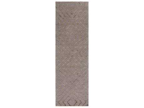 Surya Gable Rectangular Taupe & Black Runner Rug