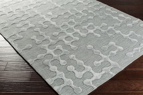 Surya Gable Rectangular Light Gray & Sage Area Rug