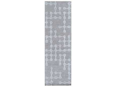 Surya Gable Rectangular Light Gray & Sage Runner Rug