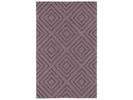 Surya Gable Rectangular Dark Purple & Taupe Area Rug