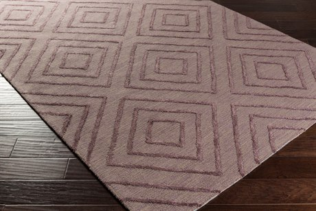 Surya Gable Rectangular Dark Purple & Taupe Area Rug