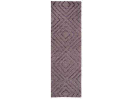 Surya Gable Rectangular Dark Purple & Taupe Runner Rug