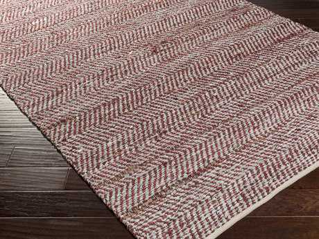 Surya Gideon Rectangular Burgundy Area Rug
