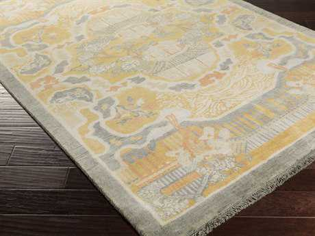 Surya Geisha Rectangular Gold Area Rug
