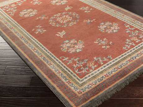 Surya Geisha Rectangular Burgundy Area Rug