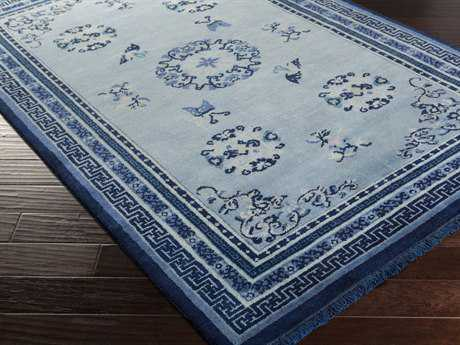Surya Geisha Rectangular Navy Area Rug