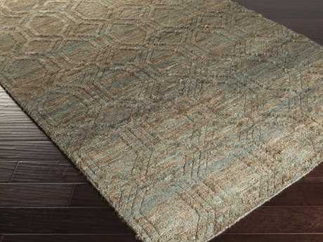 Surya Galloway Rectangular Chocolate & Teal Area Rug